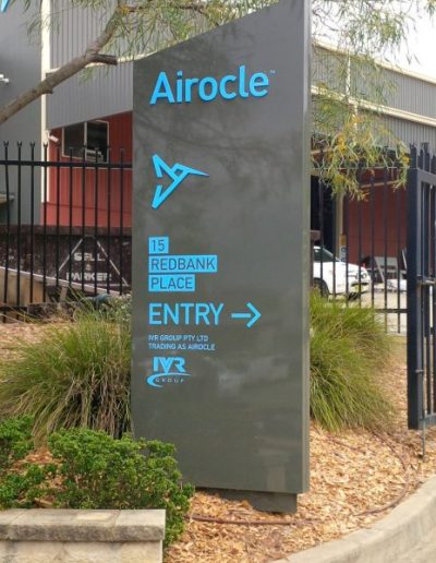 Wayfinding signs for Airocle