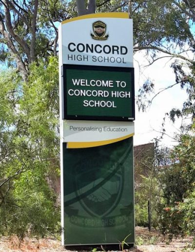 LED Signs for Concord High School