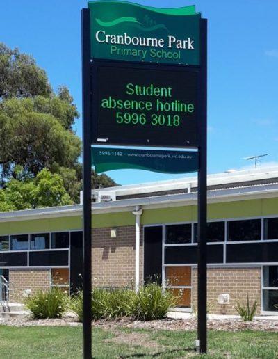 Building signs for Cranbourne Park School