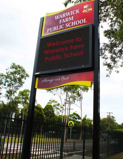LED Signs for Warwick Farm Public School
