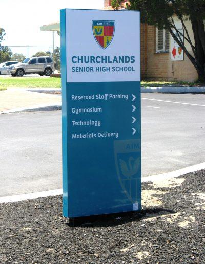 Wayfinding signs for Churchlands Senior High School