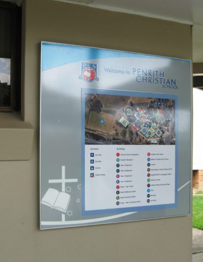 School map Signs for Penrith Christian School