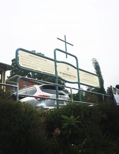 LED Signs for St Bernadette's Parish of Castle Hill
