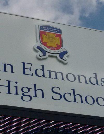 Building signs for John Edmundson High School