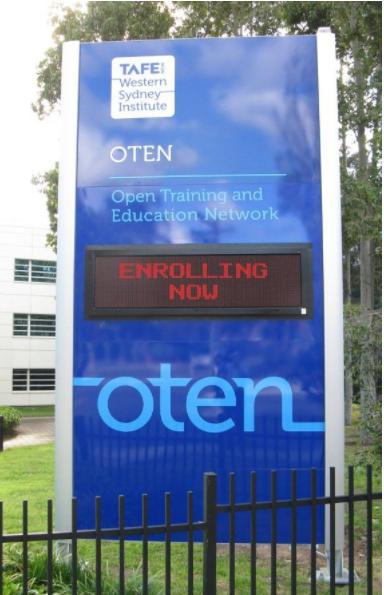 LED Signs for TAFE Western Sydney Institute