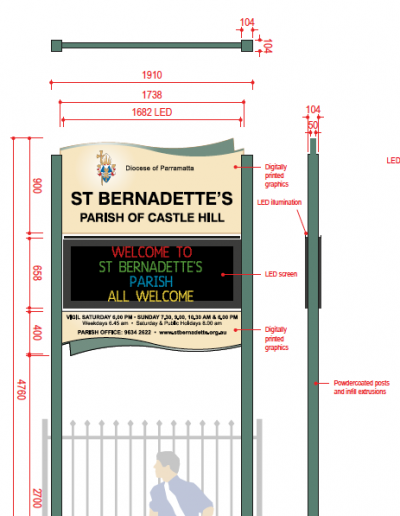 Directional and Wayfinding Signs for Cabramatta High School