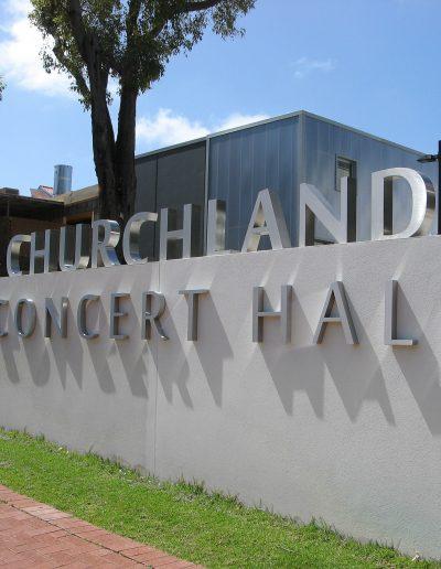 Building signs for Churchlands Senior High School