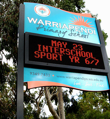 LED signs for Warriapendi Primary school
