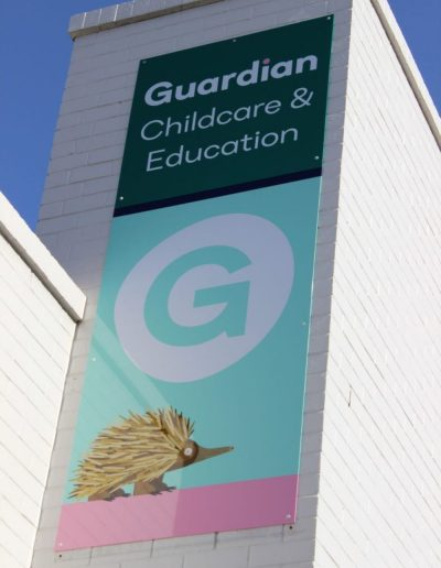 Building signs for Guardian Childcare & Education
