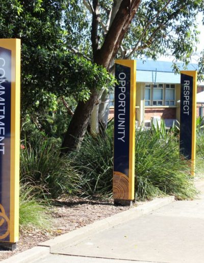 Building signs for Callaghan College