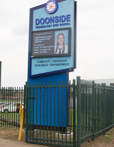 LED signs for Doonside Tech High school