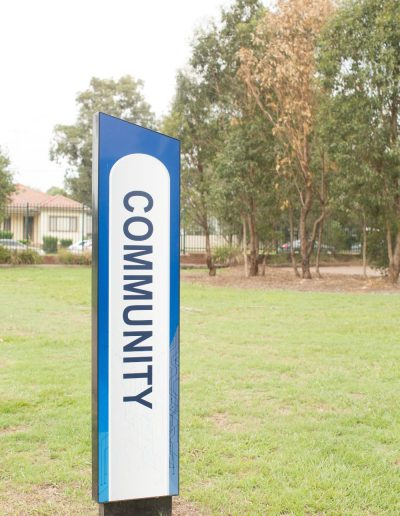 Directional and wayfinding signs for Doonside Tech High school