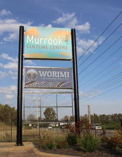 Building signs for Murrock Cultute Centre