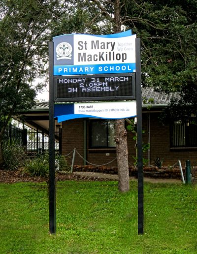 LED Signs for St Mary Mackillop Primary School
