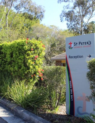 Directional and wayfinding signs for St Peter's Catholic College