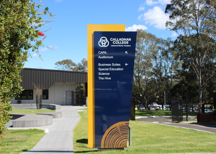 signage audit for callaghan college australia